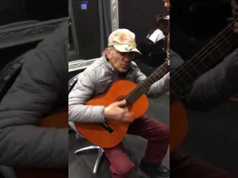 Old guy with a guitar
