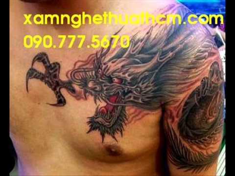 Hinh xam ca chep,hình xăm cá chép,xâm hình hoa văn nghệ thuật tattoo 3d
