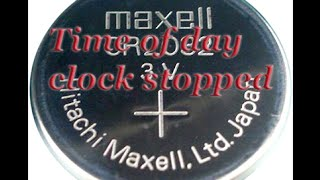 Download lagu Time of day clock stopped Dell Inspiron 1525 CMOS Battery MP3