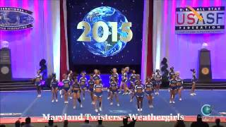 Maryland Twisters   Weathergirls 2015 Senior Medium Finals