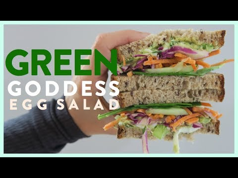 Green Goddess Egg Salad Sandwich Recipe   EAT
