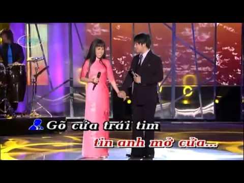 Karaoke Gõ Cửa Trái Tim   Quang Lê ft  Mai Thiên Văn