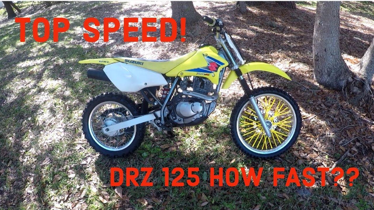 Drz 125 TOP SPEED RUN! - YouTube