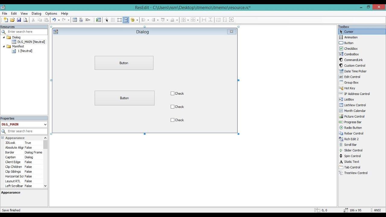 CodeBlocks Win32 GUI Editor (resource editor) - YouTube
