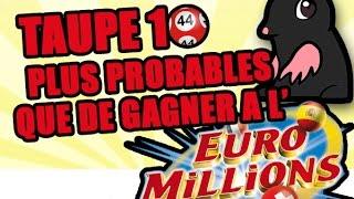 TOP 10 des choses plus probables que de gagner à l'Euromillions