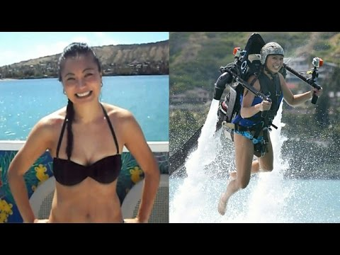 How to Water Jet pack - My First Time - Jetlev Flyer Hawaii
