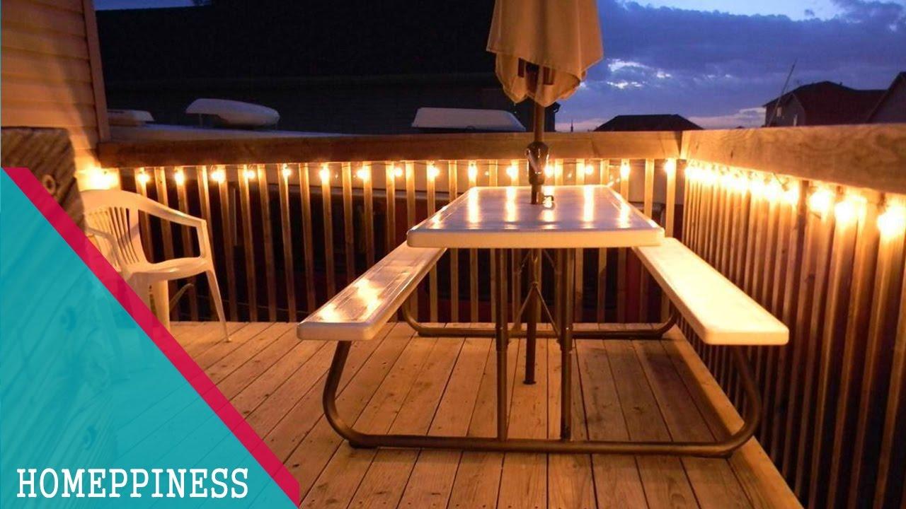 must watch 30 stunning deck lighting ideas homeppiness