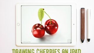 Drawing on Ipad: How to draw Cherries with Paper by 53