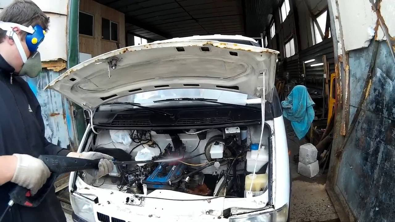 установка мотора с тойот на газель, сцепление.