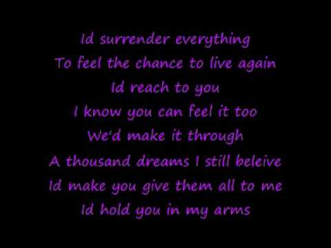 Celine Dion - I Surrender ( With Lyrics )