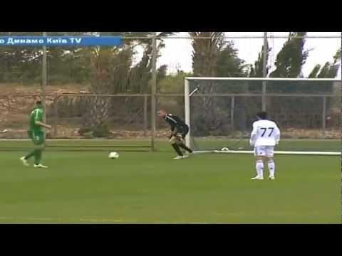 Сraziest Own Goal EVER!!! Wind-assisted goalkeeper Assaf Mendes (Maccabi Haifa) v Dynamo Kiev