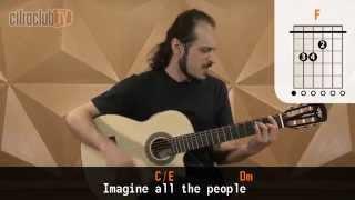 imagine john lennon aula de violo simplificada