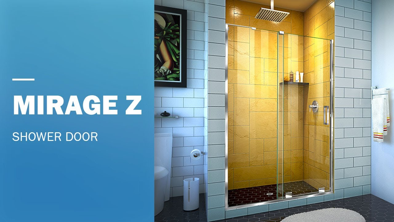 Dreamline Mirage Z Frameless Shower Door With 32 Inch Inline Panel