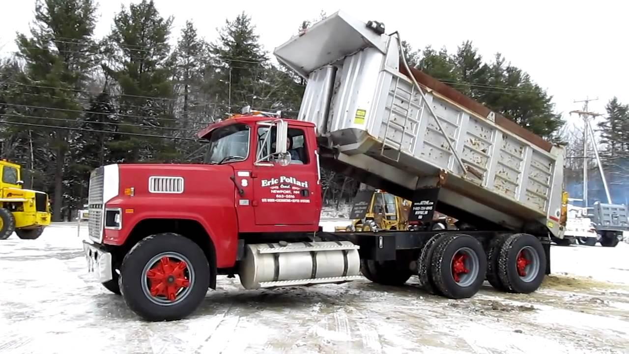 1995 ford ltl9000 dump truck for sale at youtube. Black Bedroom Furniture Sets. Home Design Ideas