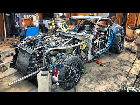 Wiring Up The V10 Beast. Will It Run!? - 240Z With A BMW V10 Engine