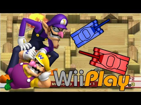 Wario and waluigi of Wii Play Tanks HD