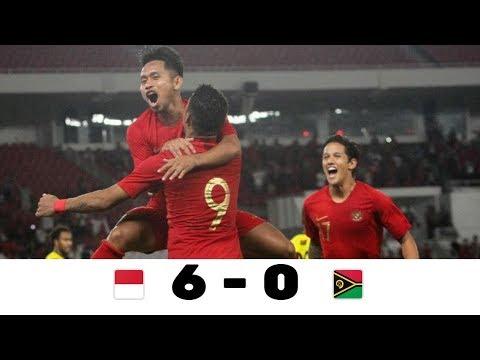 INDONESIA VS VANUATU 6-0 ALL GOAL & HIGHLIGHTS ● INTERNASIONAL FRIENDLY MATCH ● 15/06/2019