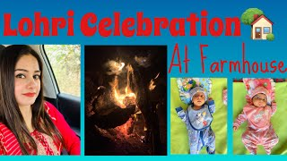 Lohri Celebration at Farmhouse + TWINS