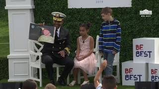 White House Easter Egg Roll Reading Nook - Surgeon General Jerome Adams