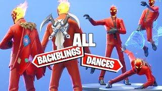 INFERNO PACK Fortnite new Skin ALL DANCES/EMOTES & BACKBLINGS Combos