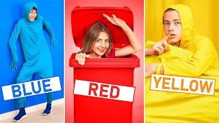 تحدي استخدام لون واحد لعمل مقلب في أصدقاءك!