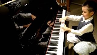 """Nicholas (6yrs) plays """"Spanish Romance"""" on piano"""