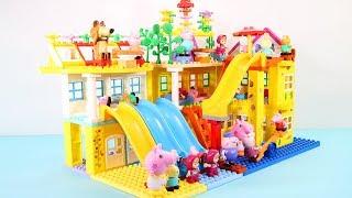 Peppa Pig Blocks Mega House Toys For Kids - Lego Duplo House Construction Sets #9