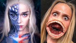 Top Scary Halloween Makeup Tutorials 👻 Special Effects Makeup Ideas Compilation