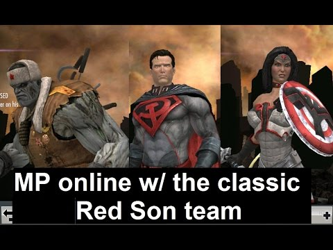 Injustice Mobile: (399) MP with Red Son Superman, Wonder Woman & Solomon Grundy