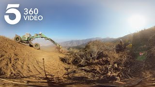 Watch Firefighters Make Repairs on the Holy Fire in 360
