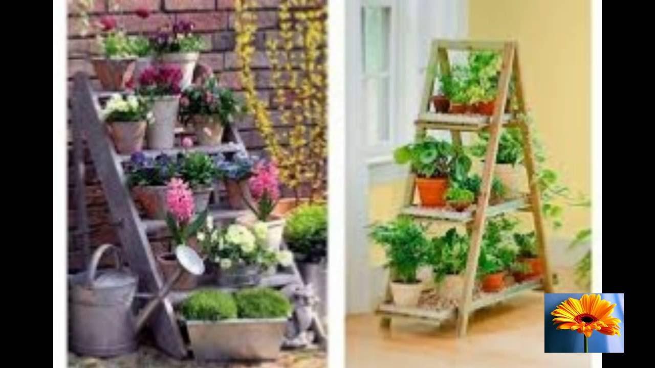 Escaleras de mano 50 ideas de como reusarlas para for Escaleras de madera para decorar