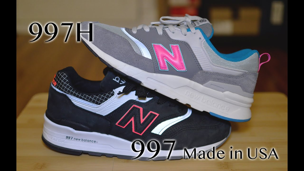 """New Balance 997H vs. 997 """"Made in USA"""