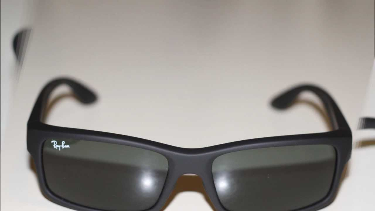 a38febb5e20 Ray Ban RB 4151F BLACK Sunglasses - YouTube