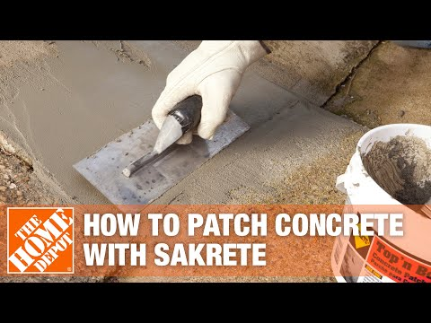 How To Patch Concrete With Sakrete Top Bond Concrete Patcher