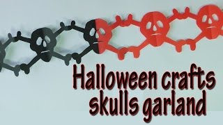Crafts For Halloween - Skulls Garland -  Halloween Decorations