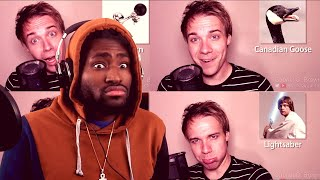 WHAT CANT HE DO?!?!?! ONE GUY, 40 SOUND EFFECTS - Black Gryph0n (Reaction!!!)
