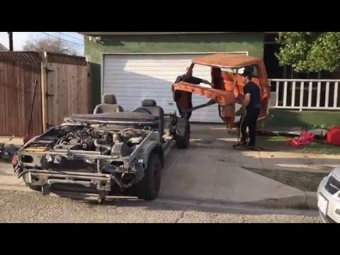 1969 Ford F-250 Wrapped Around a Crown Victoria – Engine