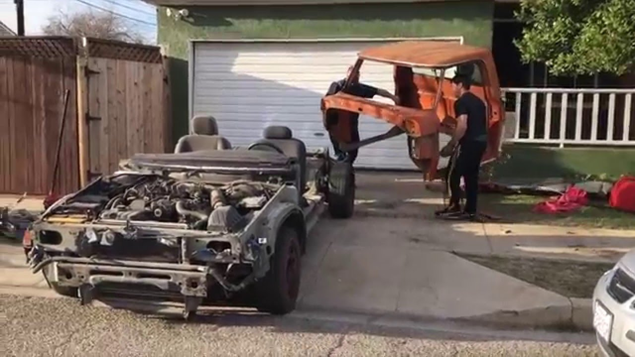 F100 08 Crown Vic full frame swap   again! - Ford Truck