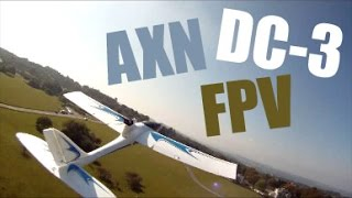 FPV Flight chasing AXN Floater Jet and  DC-3