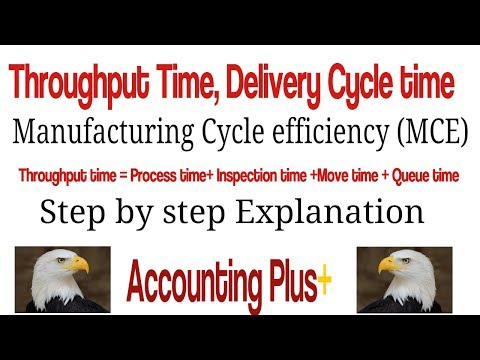 Throughput Time, Delivery Cycle Time, Manufacturing Cycle Efficiency