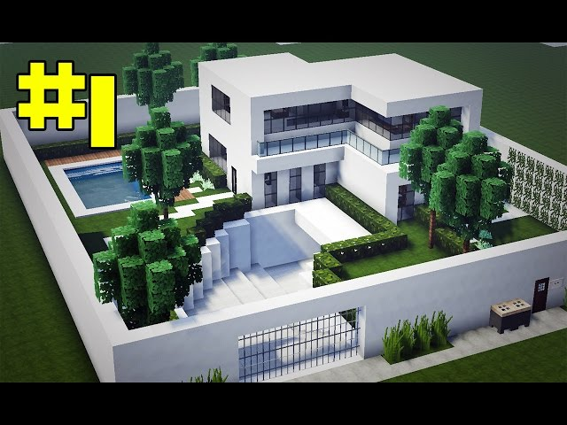 Minecraft tutorial casa moderna 2 nhltv net for Casa moderna en minecraft pe