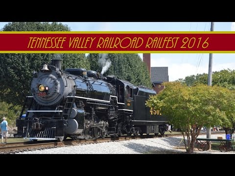 Tennessee Valley Railroad Railfest 2016 ( Drone Footage )
