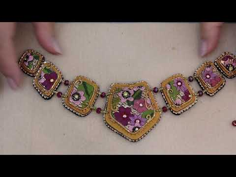 Stringing A  Polymer Clay Tile Necklace, Jewelry Tutorial