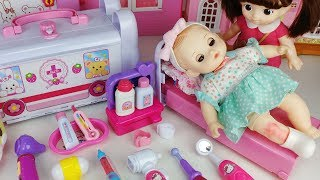 Baby doll doctor Hospital and ambulance car story msuic play - ToyMong TV 토이몽