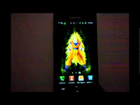 Dbz Goku Live Wallpaper For Android Youtube
