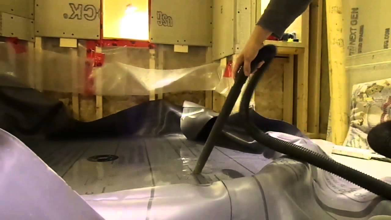 How to Install an Oatey Shower Pan Liner - YouTube