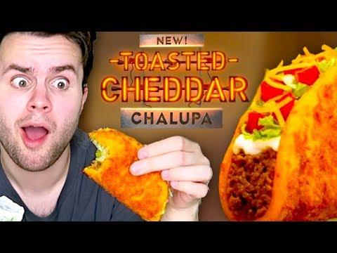 Trying Taco Bell's TOASTED CHEDDAR Chalupa AND Grande Nachos Box! - TASTE TEST!
