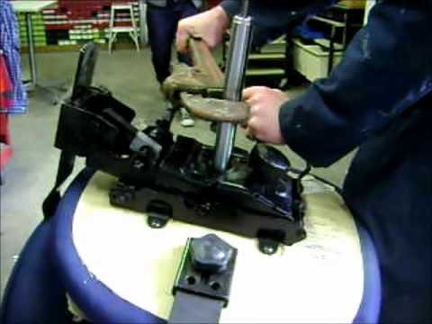 Change gas cylinder in an office chair with pipe wrench YouTube