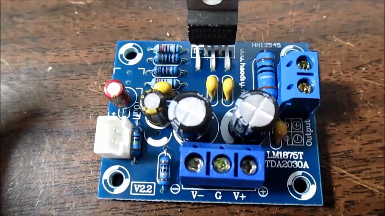 LM1875 IC audio amplifier board kit test and review