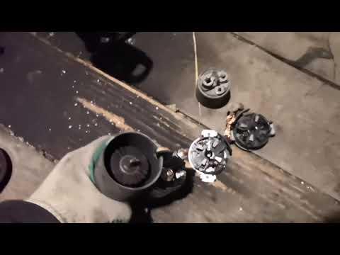Стартер пежо 307, ремонт втягивающей и щёток